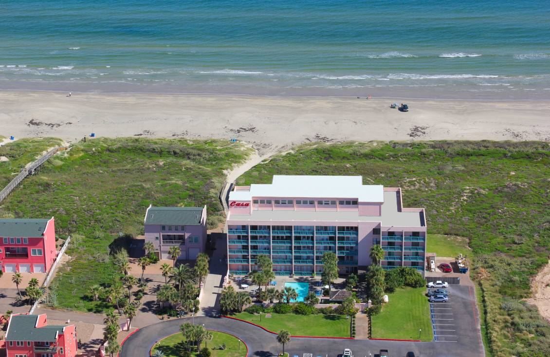 aerial view of Casa on the Beach Condominiums