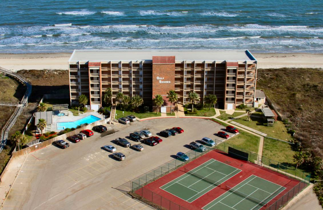 aerial view of Gulf Shores Condominiums